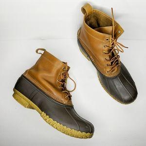 "L.L. Bean 8"" Unlined Brown Duck Boots Men 13 WIDE"